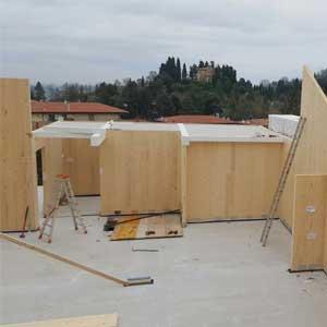 realizzazione case abitative in legno xlam modena bologna